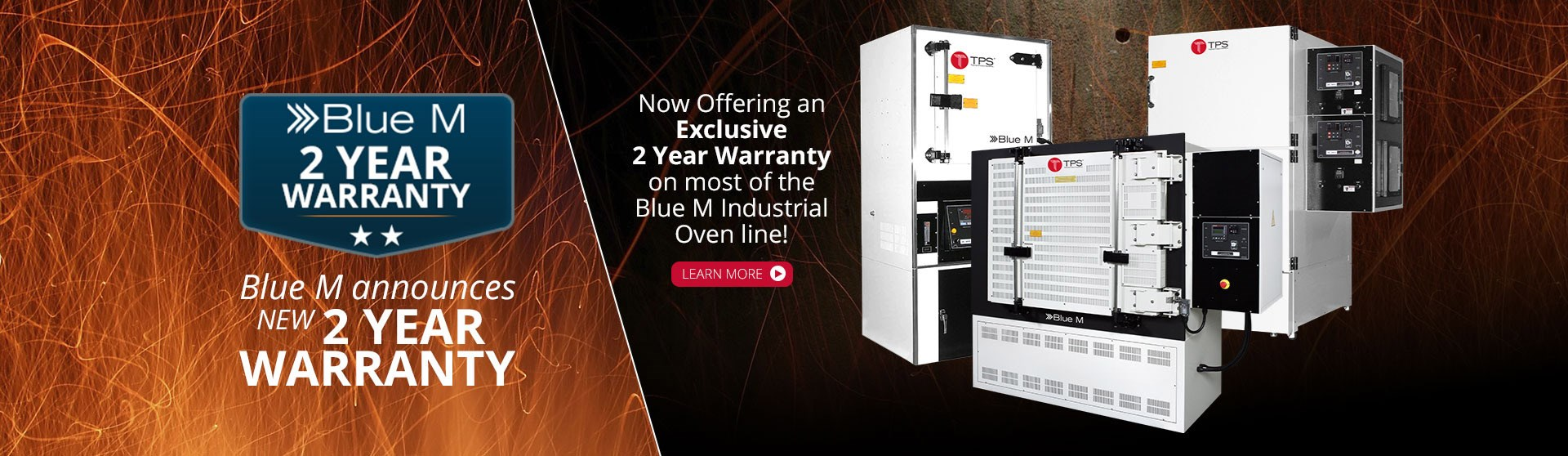 Blue M Exclusive Two-Year Warranty