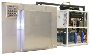 Tenney Industrial Blast Freezer rapidly and safely freezes blood plasma
